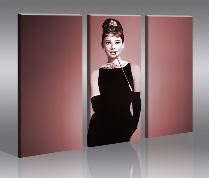 audrey hepburn v2 film bild bilder auf leinwand wandbild poster ebay. Black Bedroom Furniture Sets. Home Design Ideas