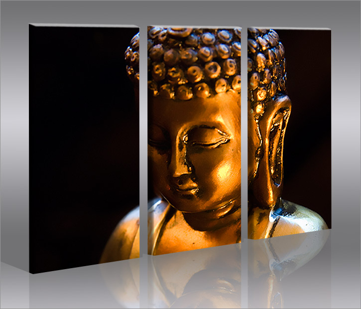 buddha v6 china asien 3 bilder bild geschenk auf leinwand ebay. Black Bedroom Furniture Sets. Home Design Ideas