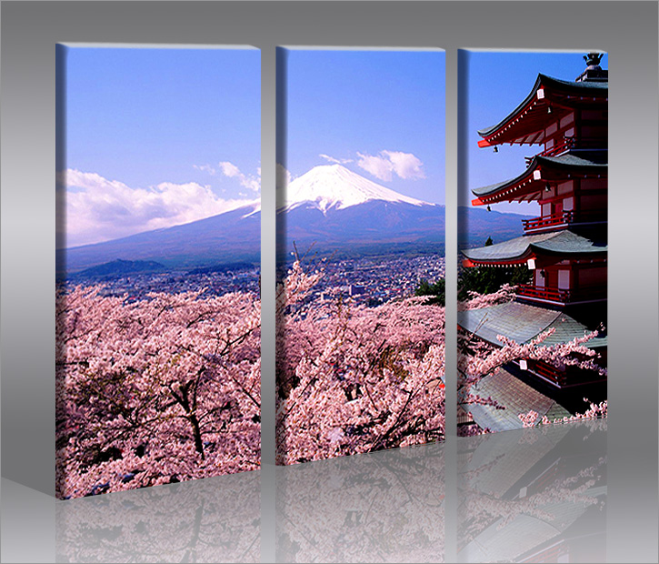 fujiyama 3 bilder bild berg japan auf leinwand wandbild poster ebay. Black Bedroom Furniture Sets. Home Design Ideas