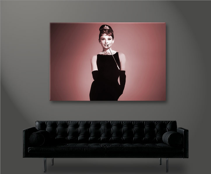 audrey hepburn v2 1p bild bilder auf leinwand wandbild poster ebay. Black Bedroom Furniture Sets. Home Design Ideas