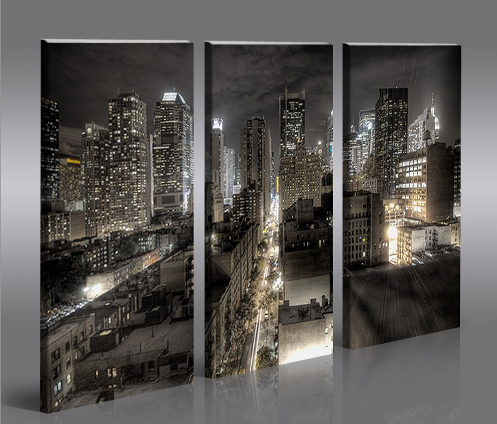 crazy new york 3 bilder auf leinwand inkl rahmen kunstdruck ebay. Black Bedroom Furniture Sets. Home Design Ideas