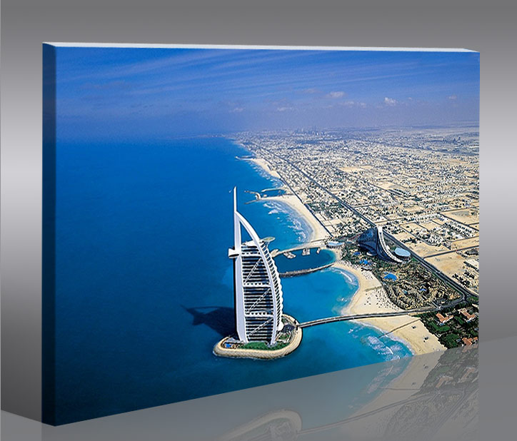 dubai 100x65 bild bilder f r wohnzimmer auf leinwand wandbild poster ebay. Black Bedroom Furniture Sets. Home Design Ideas