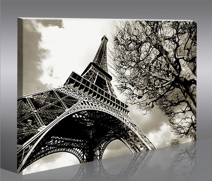 eiffelturm paris 100x65 bild bilder auf leinwand wandbild poster ebay. Black Bedroom Furniture Sets. Home Design Ideas