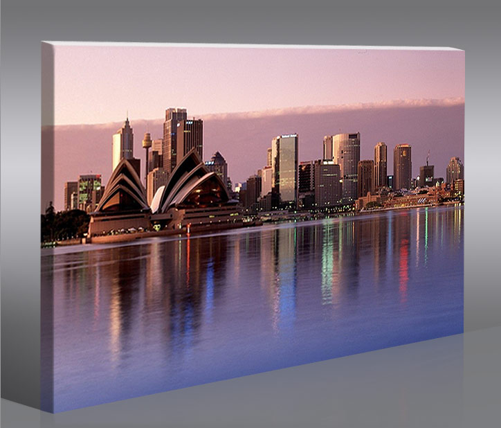 sydney australien 100x65 bild bilder auf leinwand wandbild poster ebay. Black Bedroom Furniture Sets. Home Design Ideas