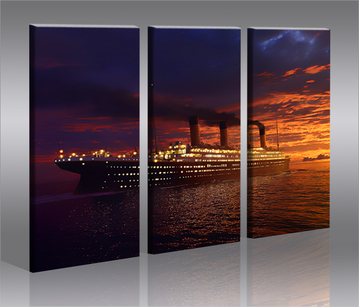 titanic 3 bilder bild auf leinwand wandbild poster ebay. Black Bedroom Furniture Sets. Home Design Ideas