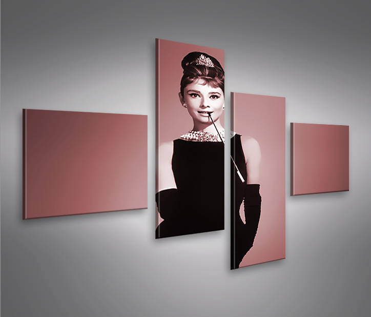 audrey hepburn v2 4l bild auf leinwand bilder kunstdruck wandbild poster ebay. Black Bedroom Furniture Sets. Home Design Ideas