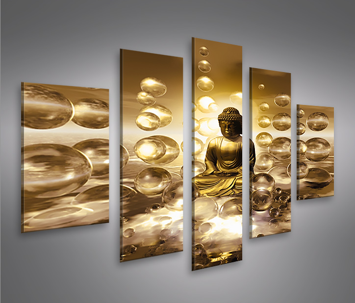 buddha v2 mf 5 bilder auf leinwand bild wandbild poster kunstdruck ebay. Black Bedroom Furniture Sets. Home Design Ideas