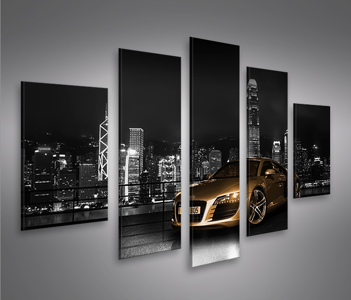audi r8 v3 mf 5 bilder auf leinwand bild wandbild poster kunstdruck ebay. Black Bedroom Furniture Sets. Home Design Ideas