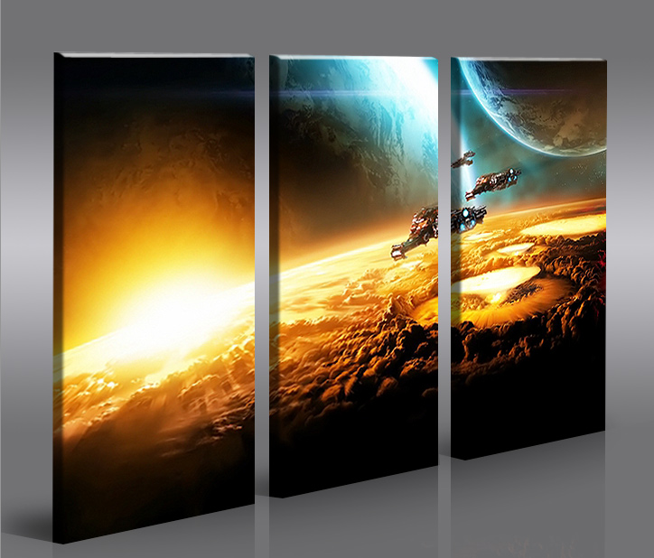 space wars v2 3 bilder star xxl auf leinwand wandbild. Black Bedroom Furniture Sets. Home Design Ideas