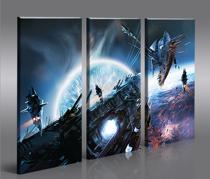 space wars v4 3 bilder star xxl auf leinwand wandbild poster ebay. Black Bedroom Furniture Sets. Home Design Ideas