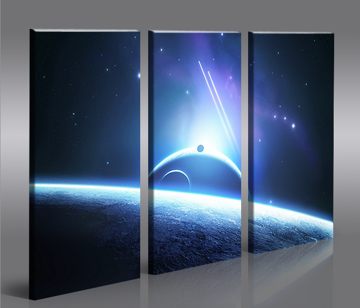 space wars v7 3 bilder star xxl auf leinwand wandbild poster ebay. Black Bedroom Furniture Sets. Home Design Ideas