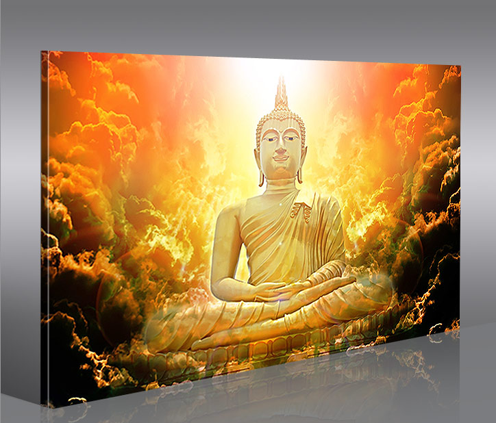 zen buddha v3 1p bild auf leinwand wandbild kunstdruck yoga bilder feng shui ebay. Black Bedroom Furniture Sets. Home Design Ideas