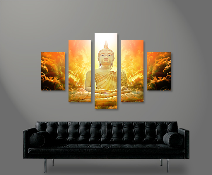 zen buddha v3 mf 5 bilder bild auf leinwand wandbild kunstdruck poster xxl ebay. Black Bedroom Furniture Sets. Home Design Ideas