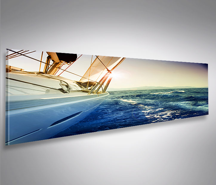 segelyacht panorama format bild auf leinwand poster wandbilder ebay. Black Bedroom Furniture Sets. Home Design Ideas