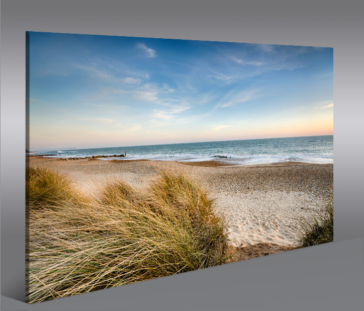 strand v2 nordsee 1p bild auf leinwand wandbild poster kunstdruck bilder ebay. Black Bedroom Furniture Sets. Home Design Ideas