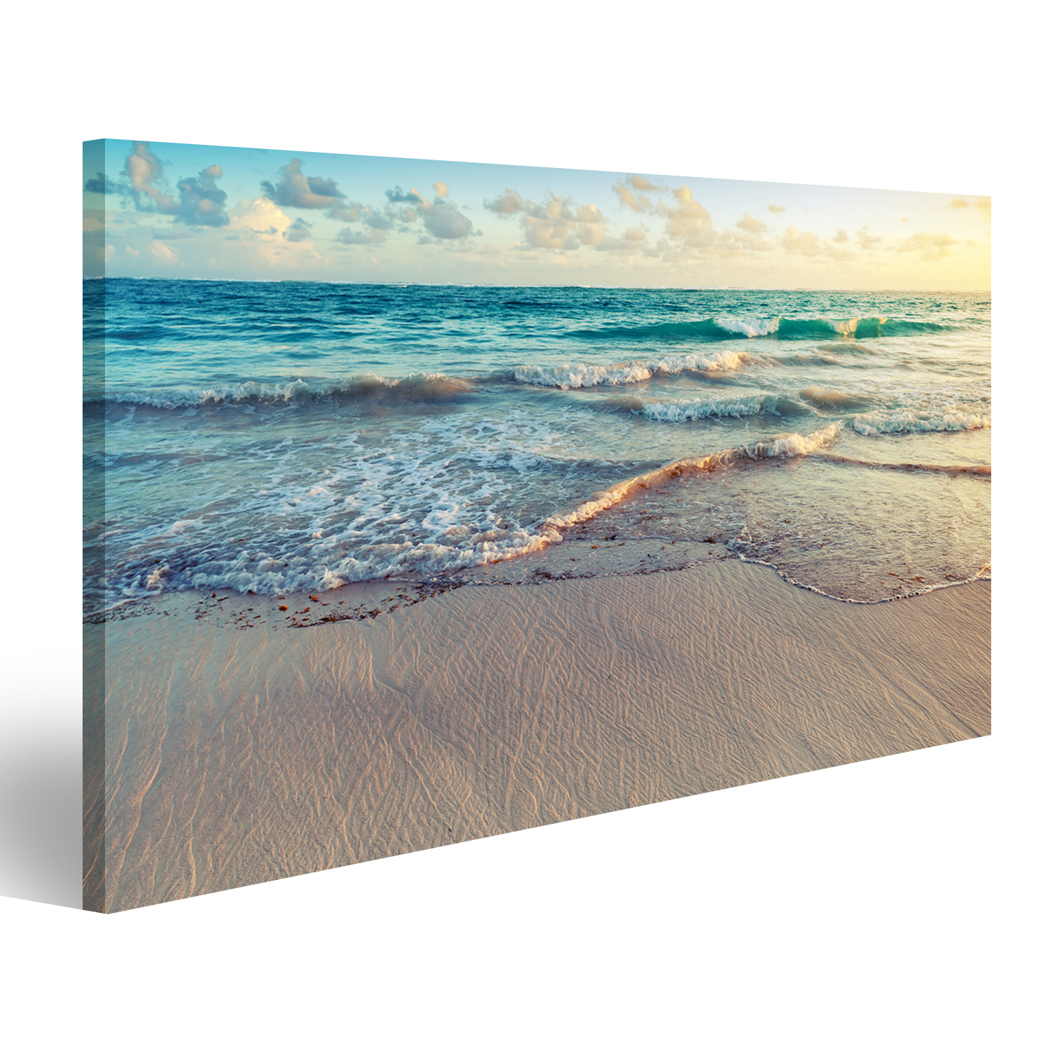strand meer sand bild auf leinwand poster azh 1k ebay. Black Bedroom Furniture Sets. Home Design Ideas