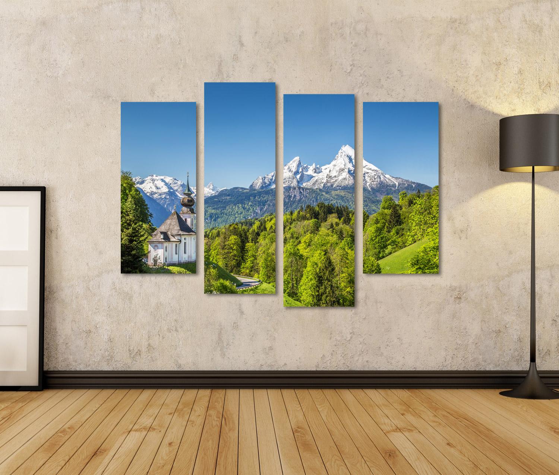 Bild Bilder auf Leinwand Schöne Berglandschaft in den bayerischen Alpe RHD
