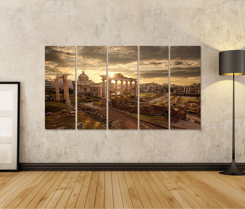 Bild Bilder auf Leinwand Berühmte römische Ruinen in Rom Hauptstadt It RDU