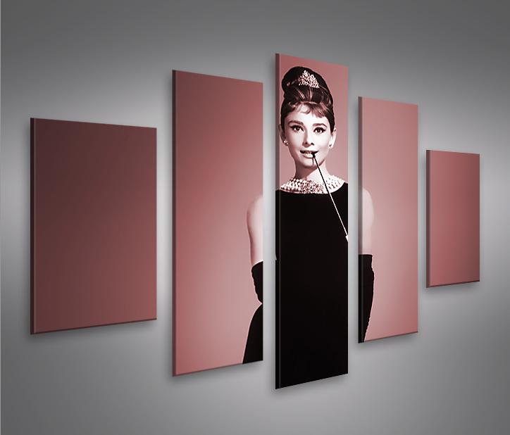 audrey hepburn v2 mf bild auf leinwand bilder kunstdruck wandbild poster ebay. Black Bedroom Furniture Sets. Home Design Ideas
