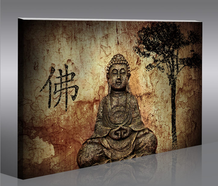 buddha v10 100 bild bilder auf leinwand wandbild poster ebay. Black Bedroom Furniture Sets. Home Design Ideas